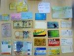 różne karty z programów lojalnościowych